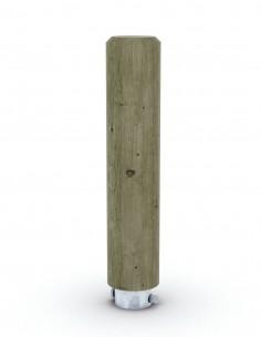 Borne ronde bois amovible