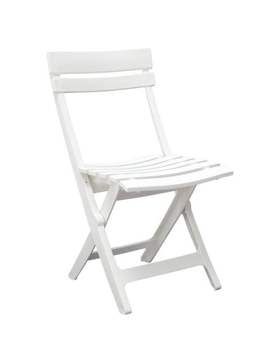 Chaise Miami pliante blanche