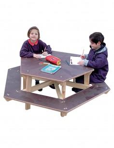 Table Hexagonale enfant