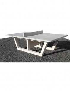 Table ping-pong béton brut
